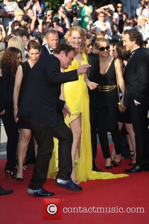 Quentin Tarantino and Uma Thurman 4