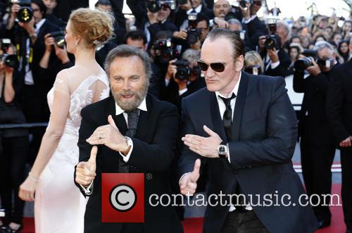 Uma Thurman, Franco Nero and Quentin Tarantino