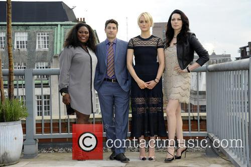 (l To R) Danielle Brooks, Jason Biggs, Taylor Schilling and Laura Prepon