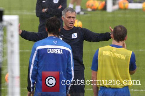 Jose Mourinho, Sam Worthington and Santiago Cabrera