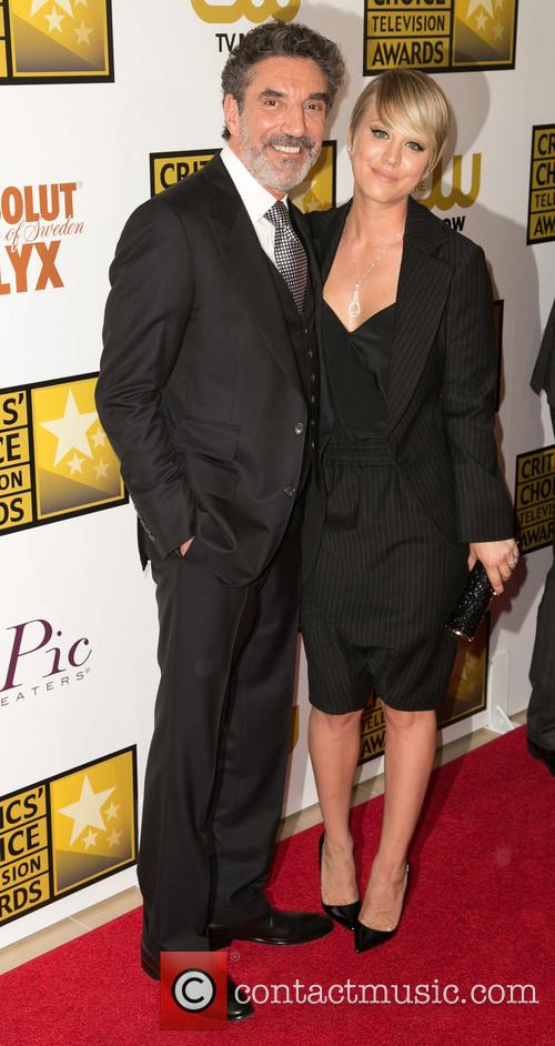 Chuck Lorre and Kaley Cuoco Sweeting