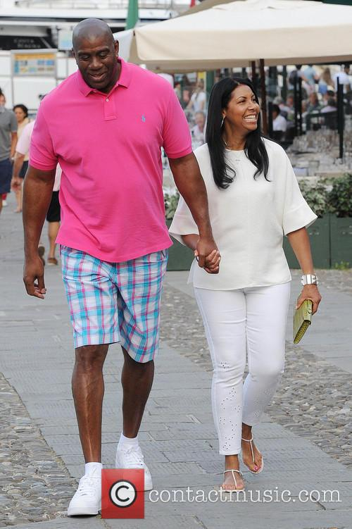 Earlitha Kelly and Magic Johnson