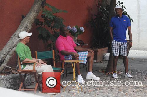Magic Johnson and Samuel L. Jackson 5