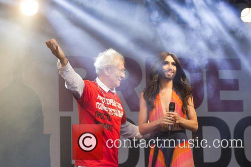 Ian Mckellen and Conchita Wurst