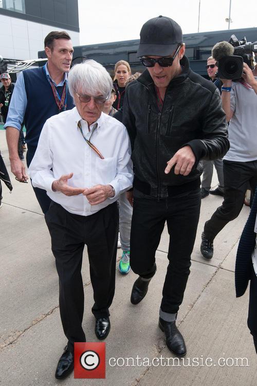 Bernie Ecclestone and Jude Law 2