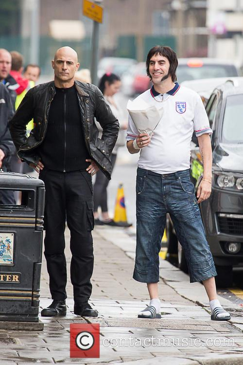 Sacha Baron Cohen and Mark Strong
