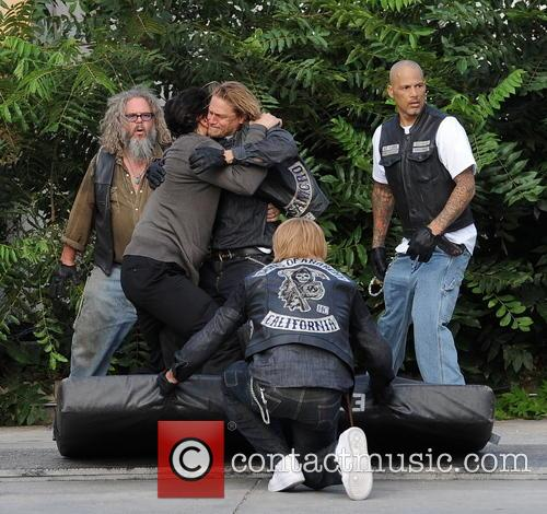 Charlie Hunnam, Jimmy Smits and Mark Boone Junior