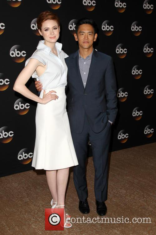 Karen Gillan and John Cho