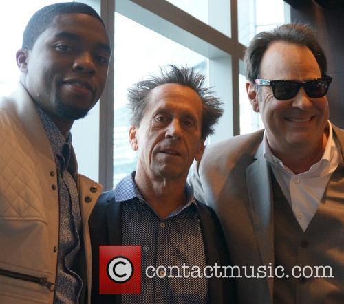 Chadwick Boseman, Brian Grazer and Dan Aykroyd