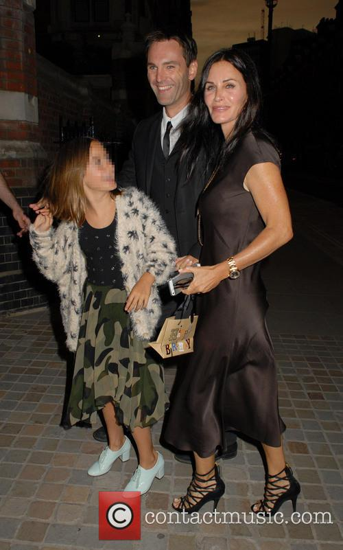 Courteney Cox, Coco Arquette and Johnny Mcdaid