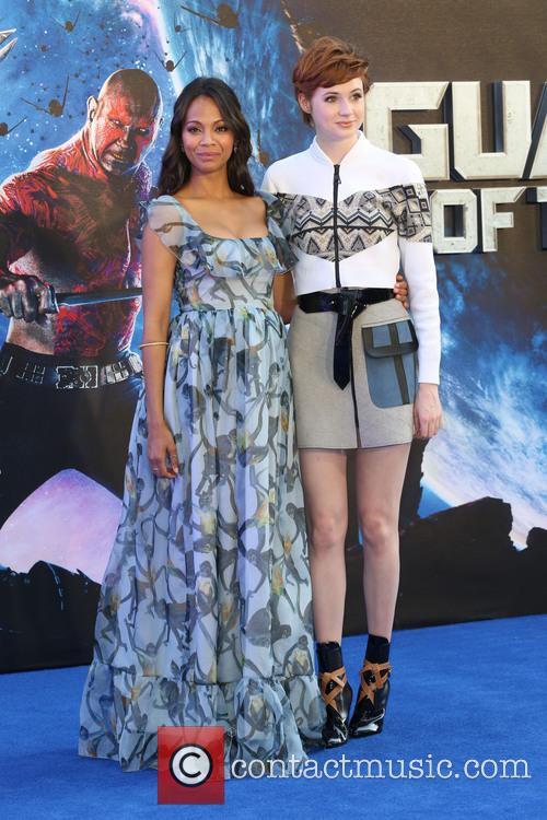 Zoe Saldana and Karen Gillan 3