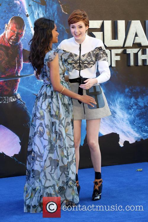 Zoe Saldana and Karen Gillan 4
