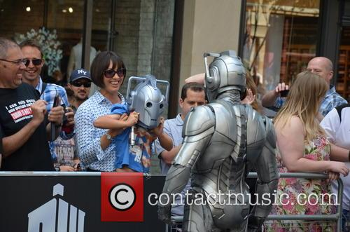 Doctor Who, Cyberman and Kid In Cyberman Mask