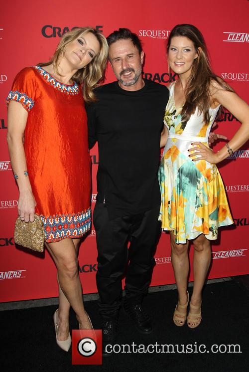 Missi Pyle, David Arquette and Meredith Pyle