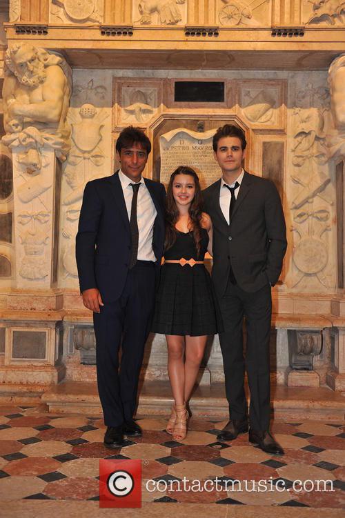 Paul Wesley, Adriano Giannini and Fatima Ptacek