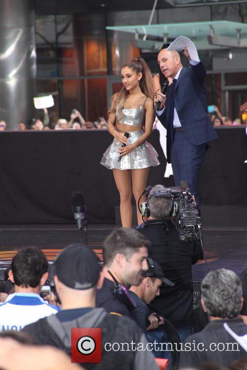 Ariana Grande and Matt Lauer