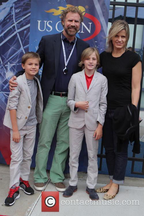 Will Ferrell, Viveca Farrell, Magnus Ferrell and Mattias Ferrell