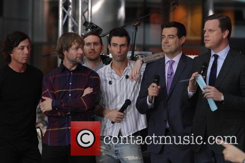 Adam Levine, Maroon 5, Jesse Carmichael, Ryan Dusick, Carson Daly and Willie Geist