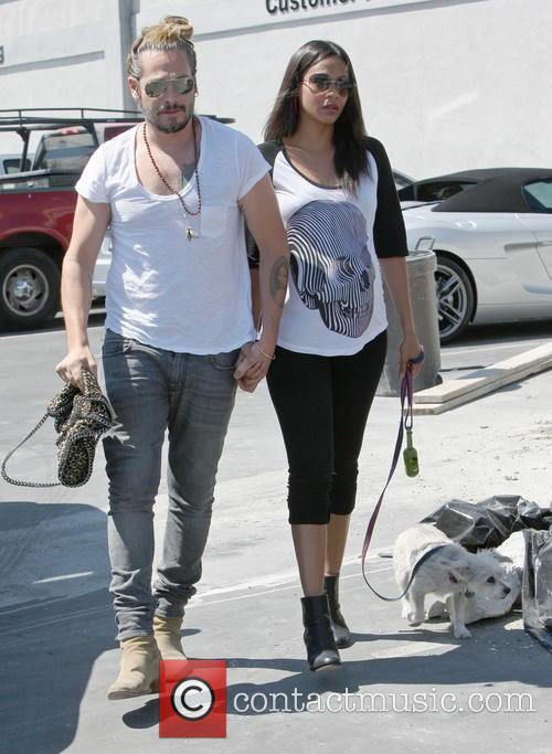 Zoe Saldana, Marco Perego and Mugsy 3