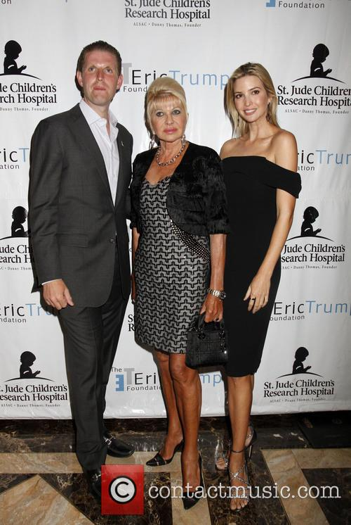 Eric Trump, Ivana Trump and Ivanka Trump