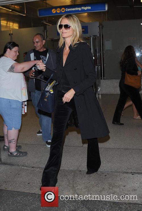 Heidi Klum and Los Angeles International Airport 1
