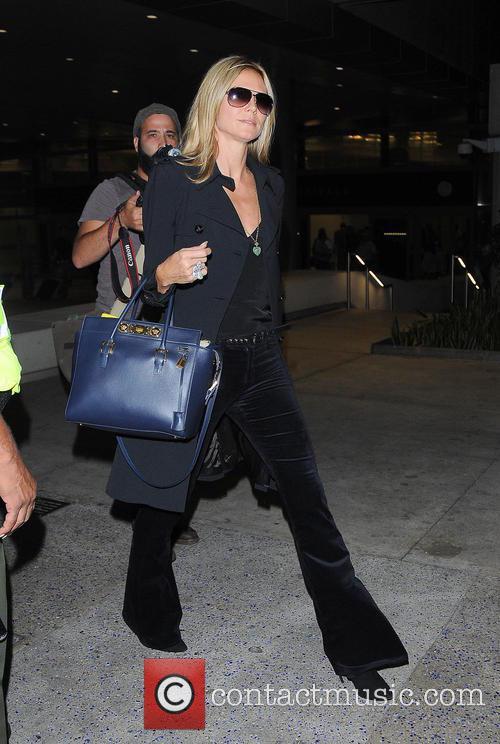 Heidi Klum and Los Angeles International Airport 10