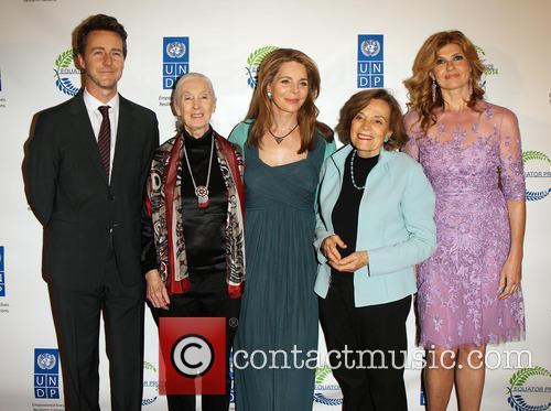 Edward Norton, Jane Goodall, Queen Noor, Sylvia Earle and Connie Britton