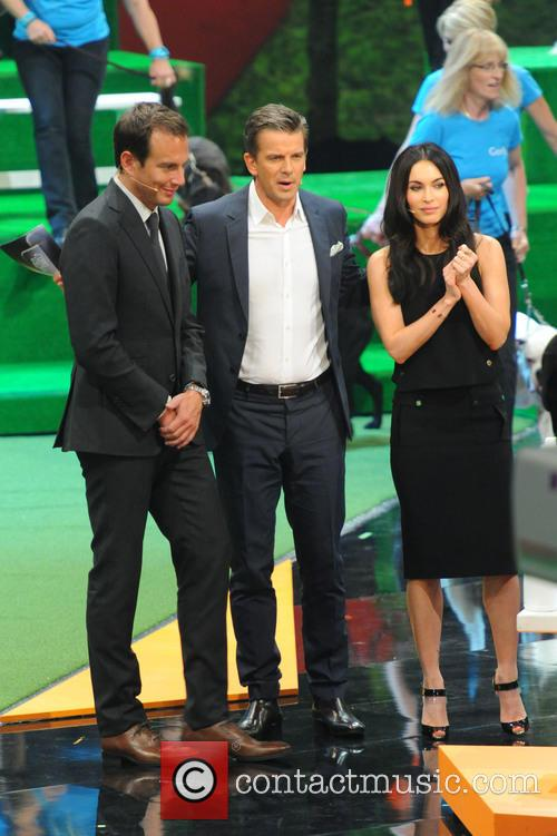 Markus Lanz, Megan Fox and Will Arnett