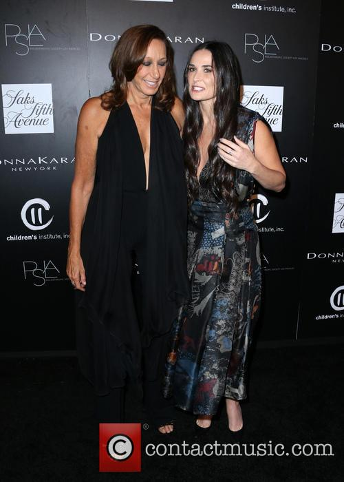 Donna Karan and Demi Moore