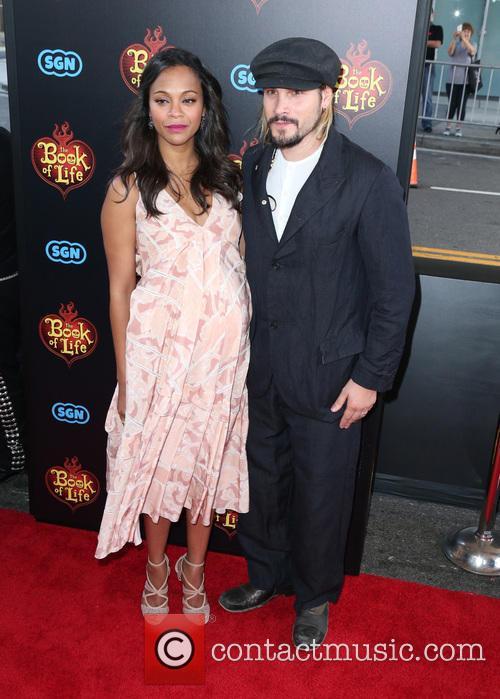 Zoe Saldana and Marco Perego 8