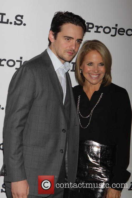 Mario Cantone and Katie Couric