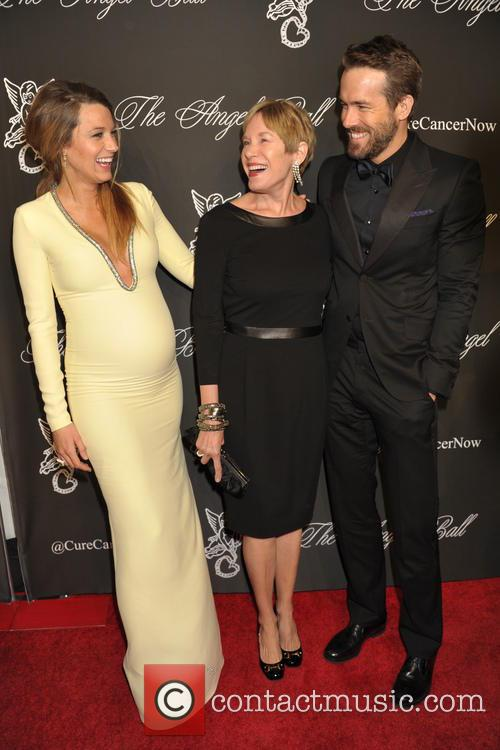 Blake Lively, Elaine Lively and Ryan Reynolds