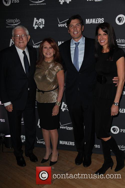 (l-r) Phil Donahue, Actress Marlo Thomas, Tim Armstrong and Nancy Armstrong