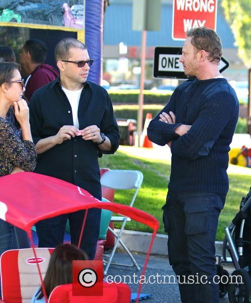Ian Ziering, Jon Cryer and Lisa Joyner 2