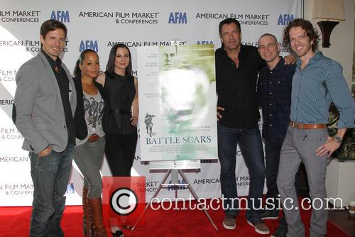 Lane Carson, Essence Atkins, Heather Mccomb, David James Elliott, Danny Buday and George Young Warner