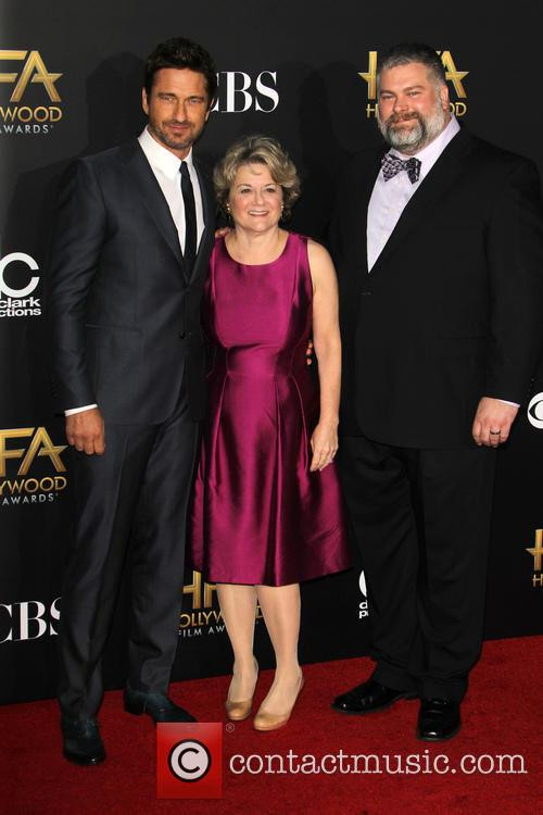Gerard Butler, Bonnie Arnold and Dean Deblois 2