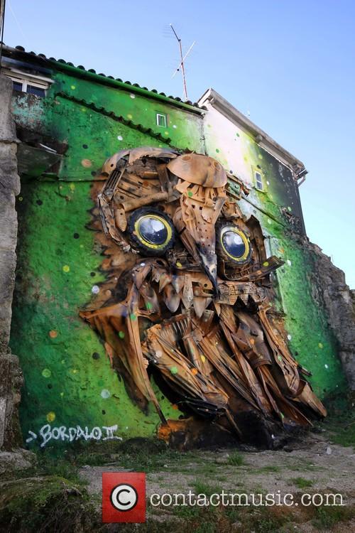 Giant Owl Street Art 2