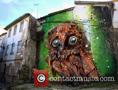 Giant Owl Street Art 1