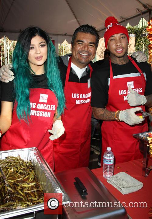 Kylie Jenner, George Lopez and Tyga 9