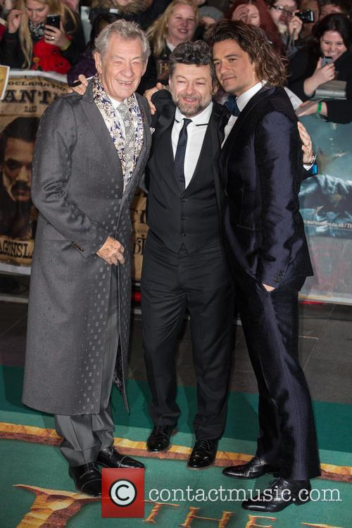 Ian Mckellen, Orlando Bloom and Andy Serkis