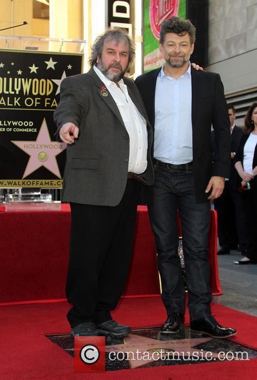 Andy Serkis and Peter Jackson 9