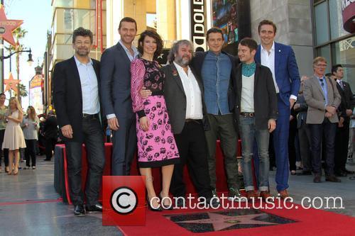 Andy Serkis, Richard Armitage, Evangeline Lilly, Peter Jackson, Orlando Bloom, Elijah Wood and Lee Pace 1