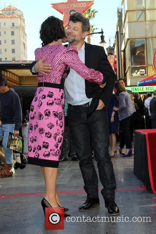 Evangeline Lilly and Andy Serkis 2