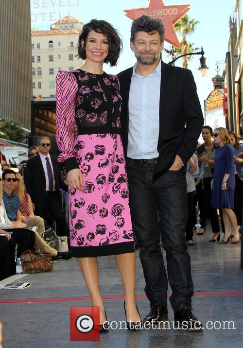 Evangeline Lilly and Andy Serkis 3