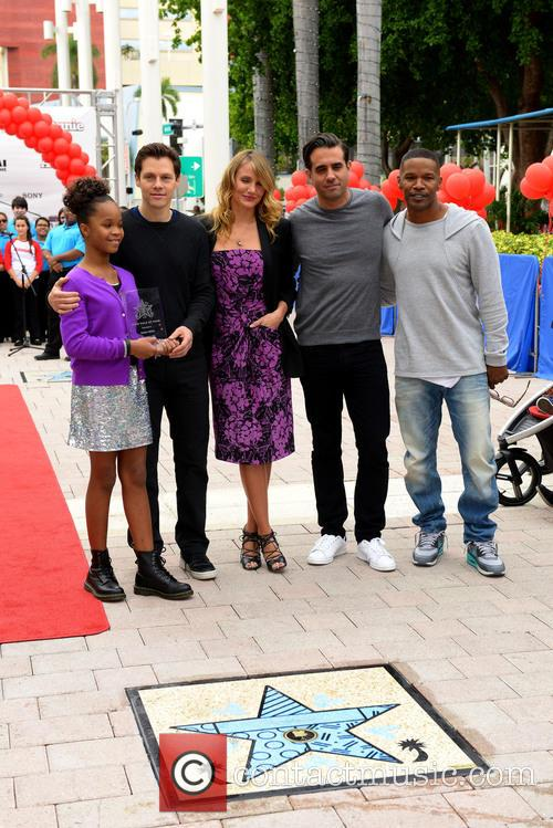 Quvenzhane Wallis, Will Gluck, Cameron Diaz, Bobby Cannavale and Jamie Foxx