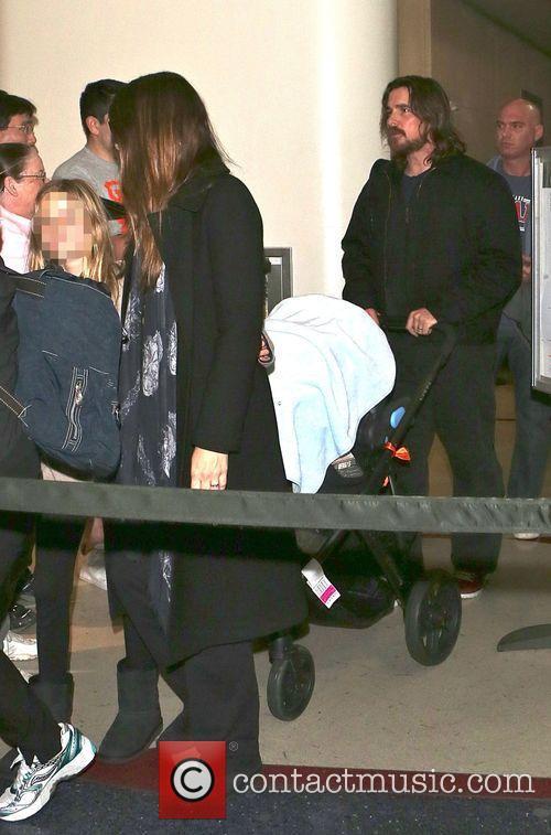 Christian Bale, Sibi Blazic and Emmeline Bale