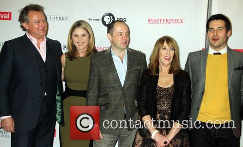 Hugh Bonneville, Jenna Bush Hager, Gareth Neame, Phyllis Logan and Robert James-collier
