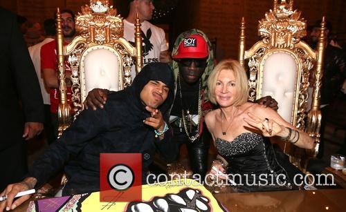 Chris Brown, Sam Sarpong and Karen Bystedt