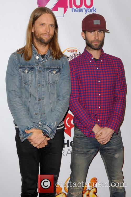 James Valentine and Adam Levine