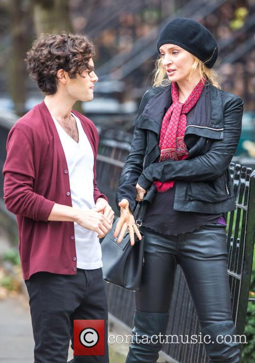 Uma Thurman and Penn Badgley 3